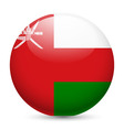 Round glossy icon of oman vector image vector image