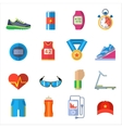 Run sport accessory icons set vector image vector image
