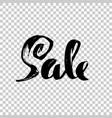 sale handwritten lettering grunge dry brush vector image vector image