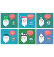 santa claus collection banner vector image vector image