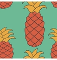 Seamless pineapple pattern Endless repeated vector image