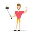 Selfie boy vector image