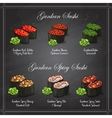 set color sketch Gunkan Sushi vector image vector image