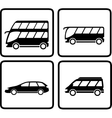 set passenger transport icon vector image vector image