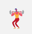 sportsman athlete doing squat barbell strong male vector image