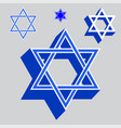 star of david vector image vector image