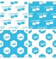 Sushi rolls patterns set vector image