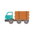 Truck wood transportation vector image vector image