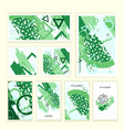 universal abstract posters and cards set vector image