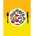vegetables on plate vector image vector image