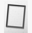vertical black empty frame from wood vector image vector image