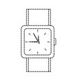watch square face time icon image vector image