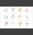 zodiac signs set hand drawn watercolor vector image
