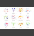 zodiac signs set of hand drawn watercolor vector image vector image
