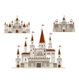 Fortified castle fairy palace and fortress vector image