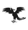 phoenix bird with rising wings ancient symbol of vector image