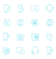 Thin lines icon set - communication vector image
