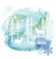 Watercolor Christmas card vector image