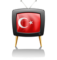 A television wit the flag of Turkey vector image vector image