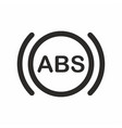 abs car dashboard indicator icon vector image