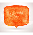 Abstract Watercolor Speech Bubble vector image vector image