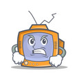 angry tv character cartoon object vector image vector image