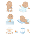 baby boy with toys vector image