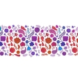 Background with doodle flower pattern vector image