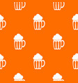 beer pattern seamless vector image vector image