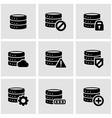black database icon set vector image vector image