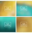 Blurred Backgrounds Collection vector image