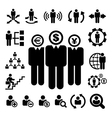 Business and Management Icons set vector image vector image