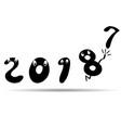 cartoon funny 2018 background vector image vector image