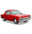 cartoon red american retro muscle car icon vector image vector image