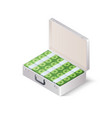 case full of money isometric vector image