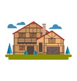 chalet house vector image vector image