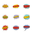 cinema banner icons set cartoon style vector image