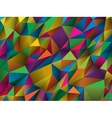 Colorful abstract low-poly polygonal triangular vector image