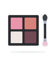 compact eyeshadow flat material design isolated vector image vector image