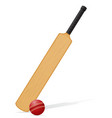cricket bat and ball 03 vector image vector image