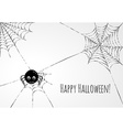 Cute spider and webs over gray background vector image vector image