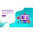 data protection concept with character template vector image
