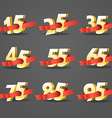 Different digits with ribbons Sale banner template vector image