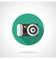 Digital camera round flat color icon vector image vector image