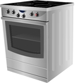 Electric stove vector image vector image