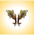 engraving decoration vintage tattoo element vector image vector image