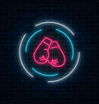 glowing neon boxing club sign in circle frame on vector image vector image
