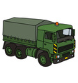 Green military truck vector image vector image