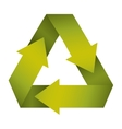 green recycling symbol shape with gradient vector image vector image