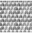 half circle seamless pattern vector image vector image
